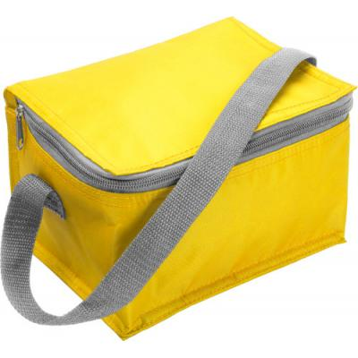 Image of Promotional Cooler Bag.Printed Six Can Cooler Bag Available in White, Yellow, Red, or Blue