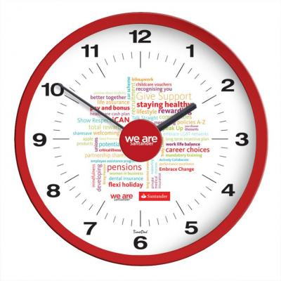 Image of Branded Perth Wall Clock. Printed Wall Clock