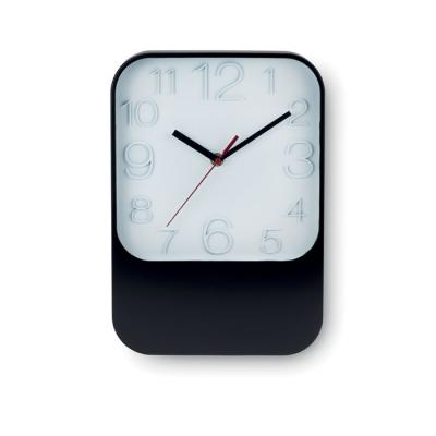 Image of Promotional Rectangular Wall Clock. Printed Black Wall Clock