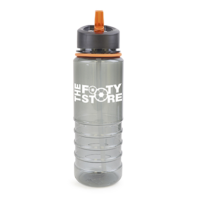 Image of Promotional RESACA Water Bottle. Printed Water Bottle With Amber Rim And Mouthpiece.