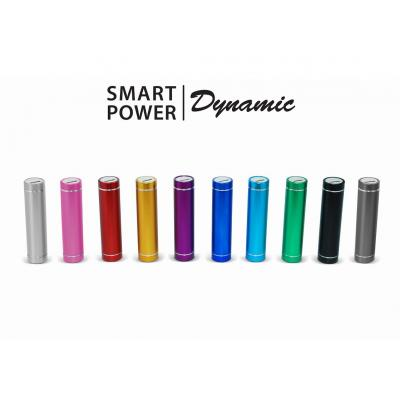 Image of Smart Power Dynamic. Aluminium Cylinder Power Bank. Engraving Available.