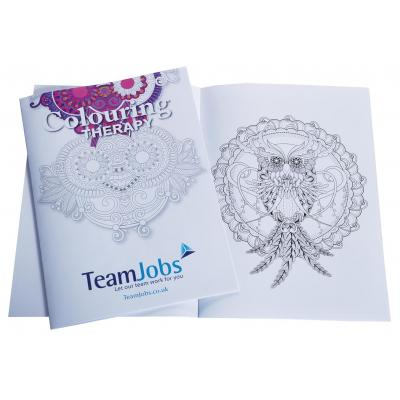 Image of Promotional Adult Colouring Book. Bespoke Printed Colouring Therapy Book.