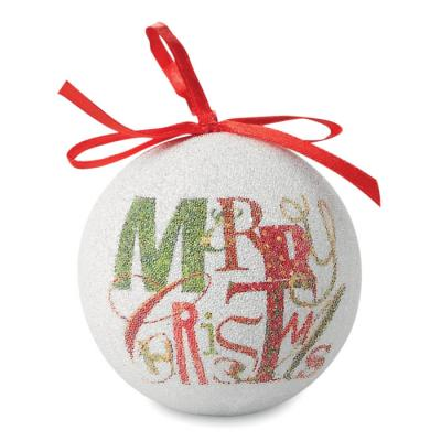 Image of Promotional Christmas Bauble.Printed Gift Boxed Bauble. Express Service Available.