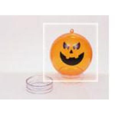 Image of Promotional Halloween Bauble. Printed Pumpkin Orange Bauble. Perspex Halloween Bauble