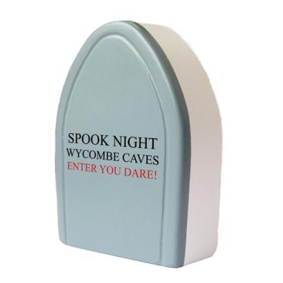 Image of Printed Halloween Stress Ball. Promotional Stress Tombstone.