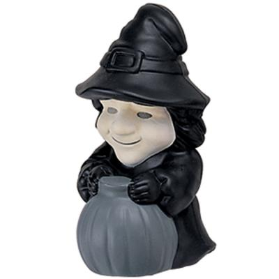 Image of Branded Halloween Stress Ball. Promotional Stress Ball In The Shape Of A Witch. Express Service Available