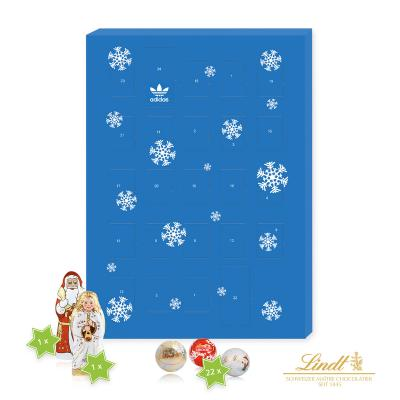 Image of Promotional Lindt A4 Gourmet chocolate wall calendar. Branded Lindt Chocolate A4 Luxury Wall Advent Calendar