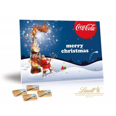 Bespoke Branded Chocolate A5 Lindt Select calendar  Christmas Advent