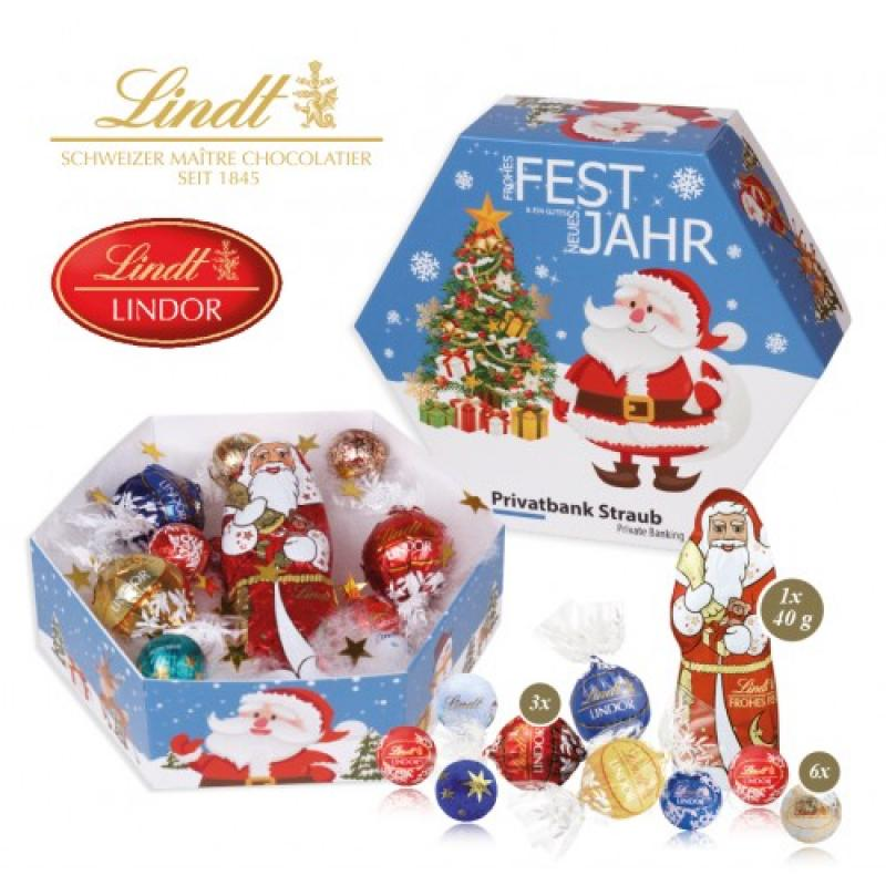 Personalised Hexagonal Christmas Lindt Gift Box