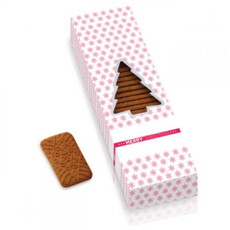 Bespoke Christmas Tree Box Of Caramel Cookies Promotional