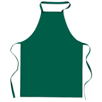 Image of Promotional Christmas Green Apron. Printed Cotton Green Apron