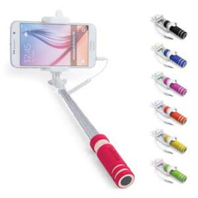 Image of Promotional Paicom Selfie Stick. Printed Push Button Selfie Stick.