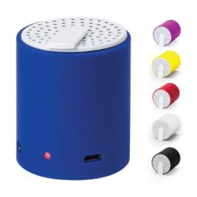 Image of Promotional Speaker Tidian. Printed Cylindrical speaker with bluetooth connection,