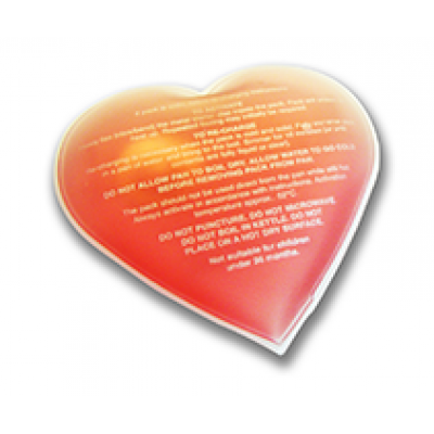 Image of Branded Hand Warmer. Printed Heart Shaped Heat Pad