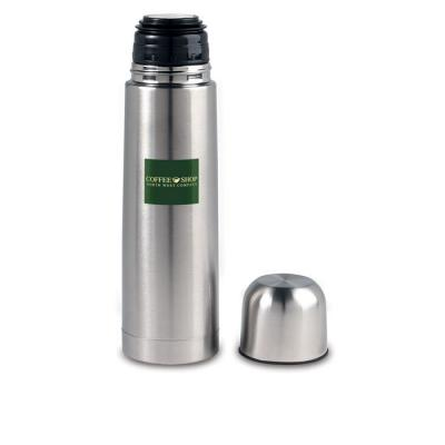 Image of Printed Vacuum Drinks Flask 500 ml. Promotional Stainless Steel Thermos Flask