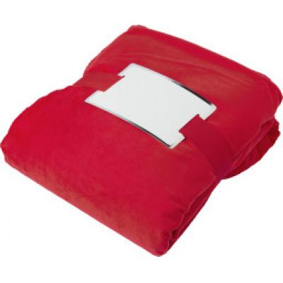 cf64714fce Image of Branded Winter Blanket. Promotional Micro Mink Blanket With  Sherpa. Red