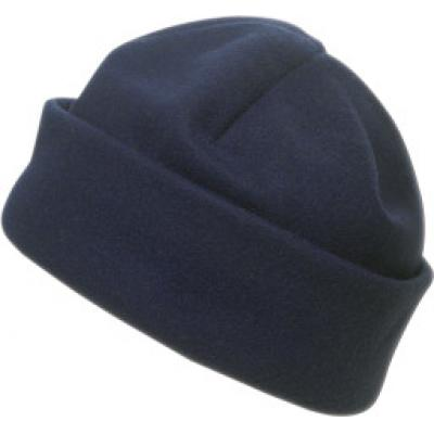 Image of Promotional Fleece Hat. Printed Fleece Beanie. Blue Hat