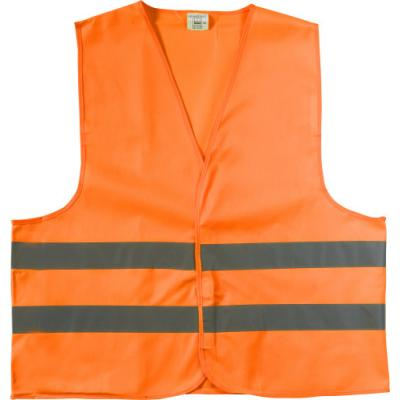 Image of Printed High Vis Vest. Promotional High Visibility Safety Jacket. Orange. M-XXL