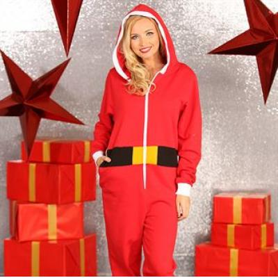 Image of Promotional Santa All In One. Printed Father Christmas Onesie