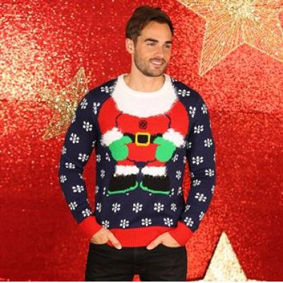 Image of Promotional Santa Christmas Jumper. Fun Father Christmas jumper. Various Sizes Available