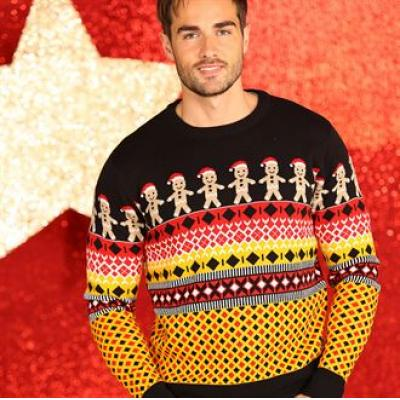 Image of Promotional Gingerbread Man Jumper. Branded Christmas Jumper