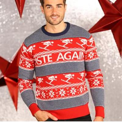 Image of Fair Isle Christmas Jumper. Promotional Novelty Ski Jumper