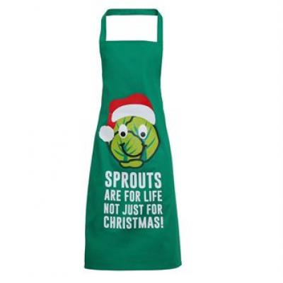 Image of Printed Brussel Sprouts Apron. Promotional Novelty Christmas Apron