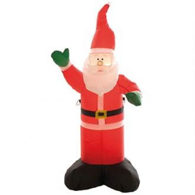 Image of Printed Inflatable Santa With LED Light. 120cm Inflatable Father Christmas