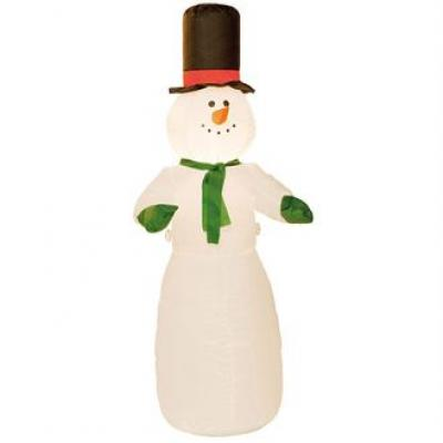 Image of Printed Inflatable Snowman. Promotional Novelty Snowman.