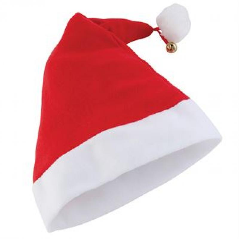 Premium santa hat promotional red with bell
