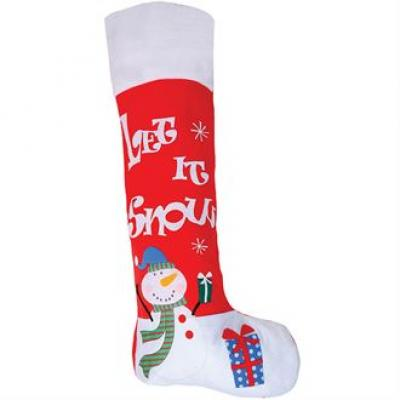 Image of Promotional Large Christmas Stocking. Printed Red Xmas Stocking