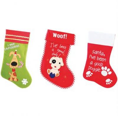 Image of Printed Dogs Christmas Stocking. Promotional Pets Christmas Stocking