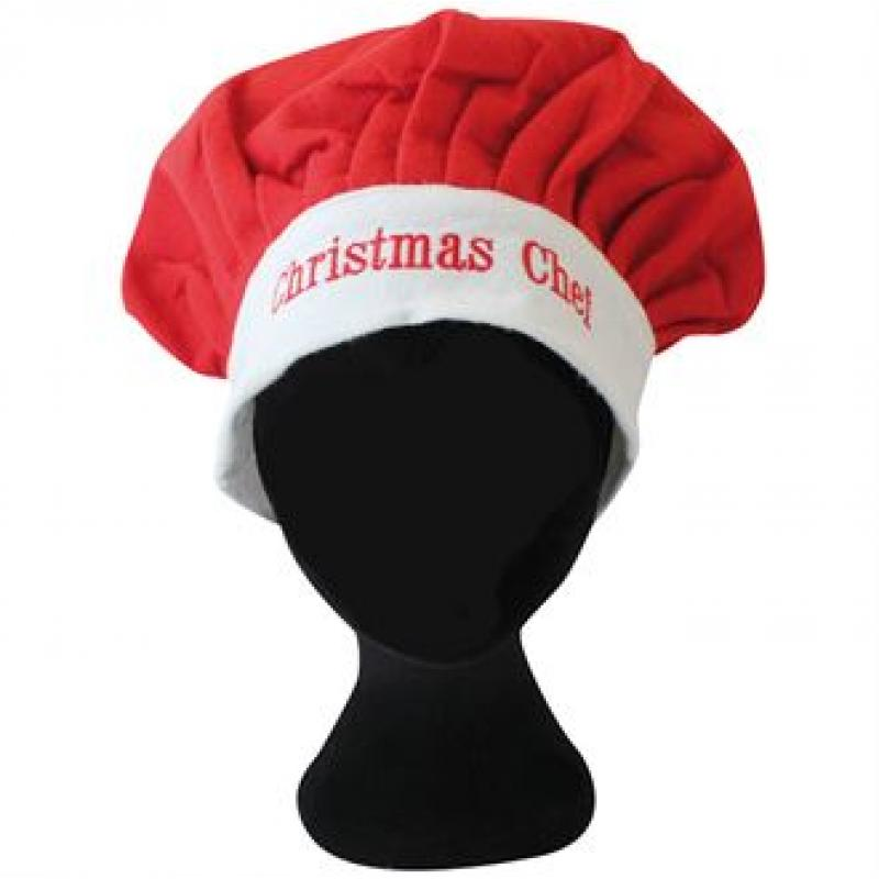 0e59ae6e7 Printed Christmas Chef Hat. Promotional Adults Xmas Cooks Hat ...