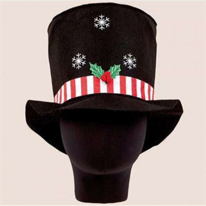promotional christmas top hat with lights branded novelty christmas hat - Christmas Top Hat