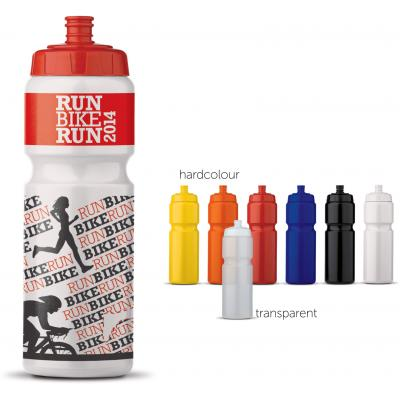 Image of Promotional 750 ml Sports Bottle. Large Print Area With Mix and Match Colours.