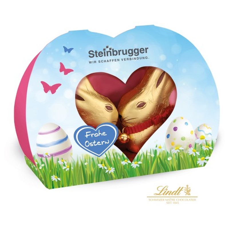 Branded Duo Chocolate Lindt Bunnies Easter Chocolate