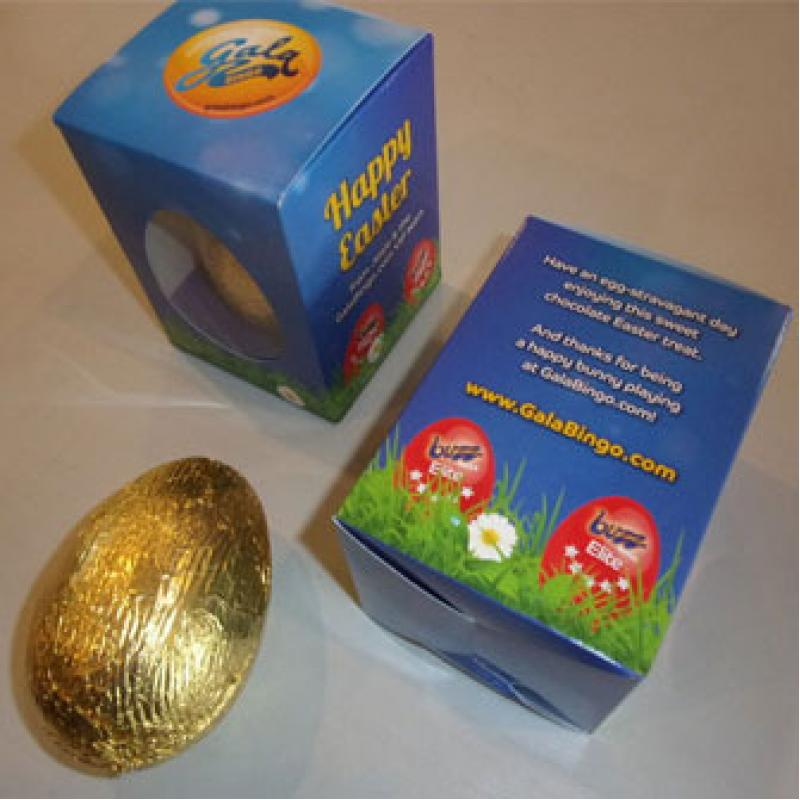 Branded easter box with foiled wrapped belgian chocolate egg 100g branded easter box with foiled wrapped belgian chocolate egg 100g negle Image collections