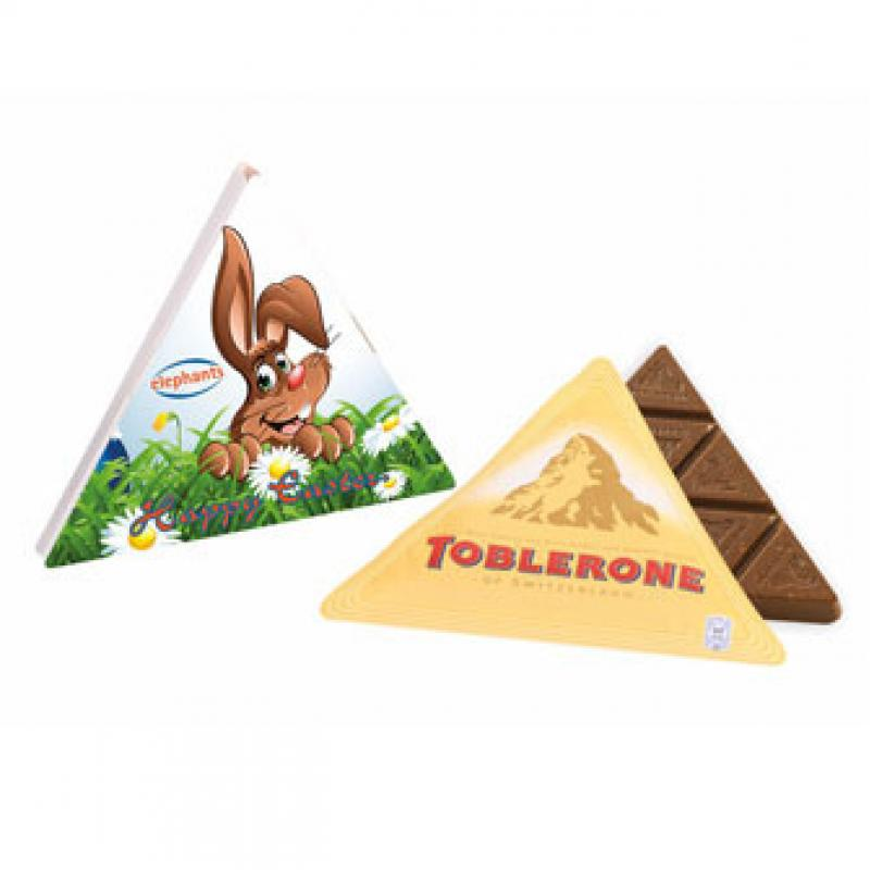 Promotional easter triangular toblerone box easter swiss promotional easter triangular toblerone box easter swiss chocolate negle Images