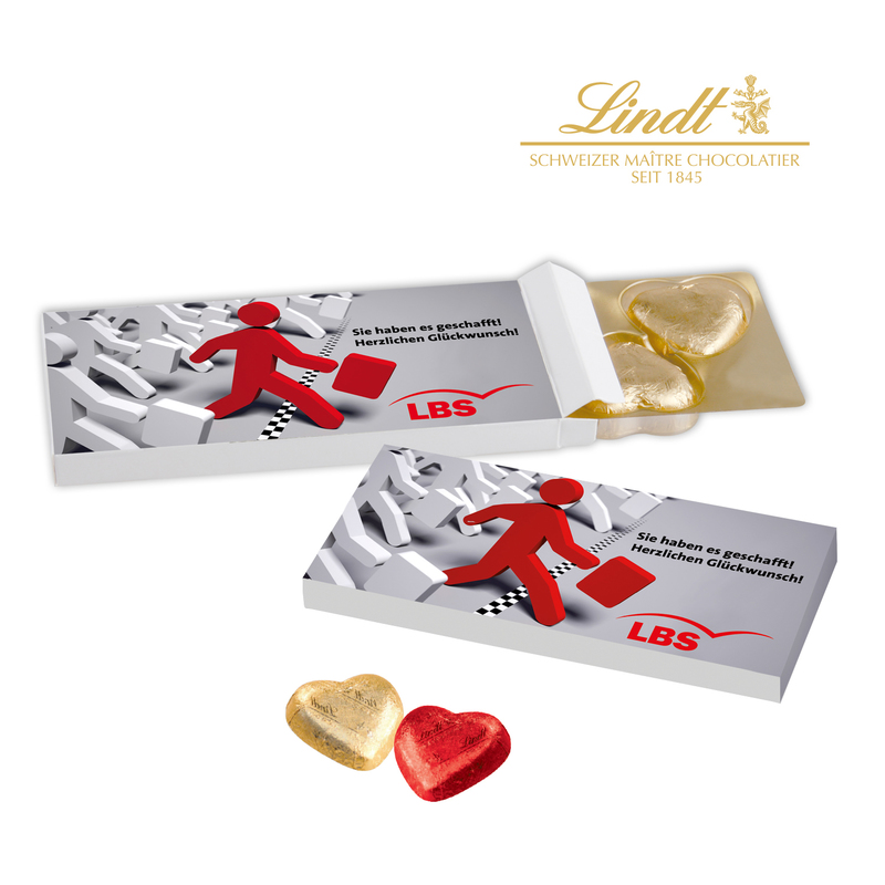 Promotional Lindt Chocolate Hearts Presented In A Gift Box