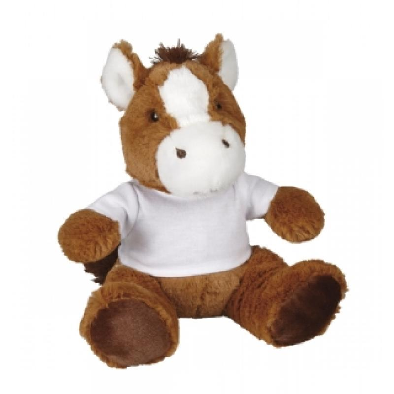 Branded Soft Horse Toy Stuffed Animal Toy With Printed T Shirt