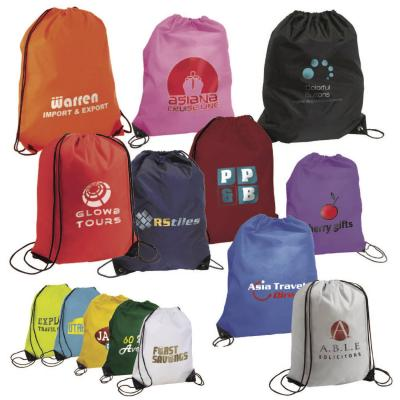 Image of Printed Drawstring Bag. Cheap Promotional Sports Bag