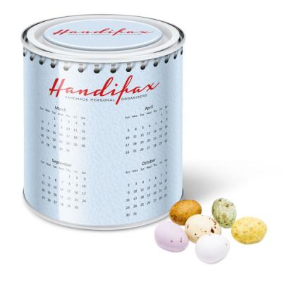 Image of Promotional Large Paint Tin Filled with Easter Chocolate Speckled Eggs.