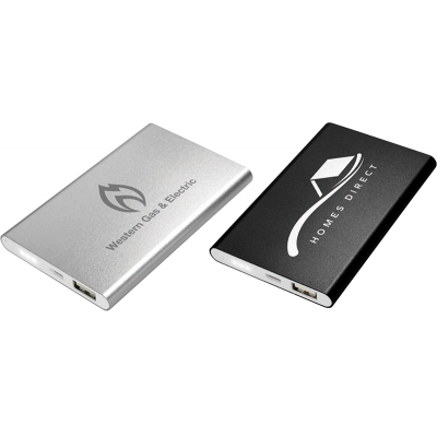 Image of Engraved Slim Star Powerbank 4000mAh. Slim Aluminium Powerbank
