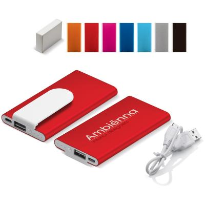 Image of Engraved Slim Powerbank With Clip 3000 mAh