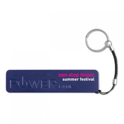 Image of Express Printed Rectangular Power Bank With Keyring. 2200mAh