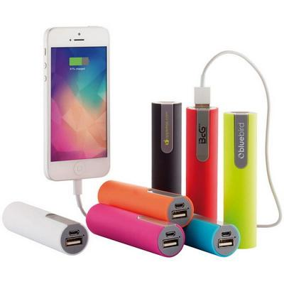 Image of Branded Cylinder Shaped Power Bank With Express Service Available