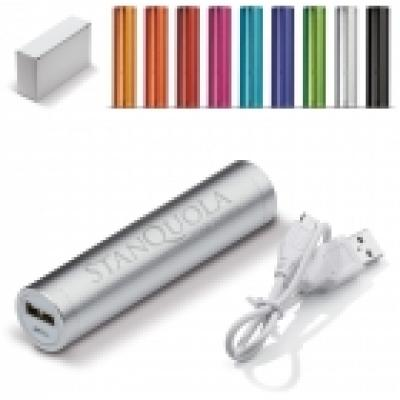 Image of Promotional Cylinder Powerbank 2000mAh. Printed Or Engraved.