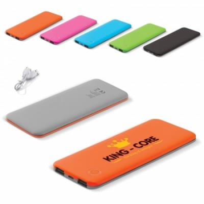 Image of Promotional Ultra Thin Power Bank. Branded Portable Charger 5000mAh