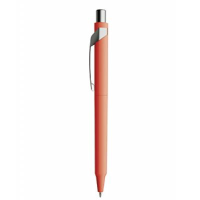 Image of Promotional Prodir DS10 With Soft Touch And Satin Finish Clip And Button. Red