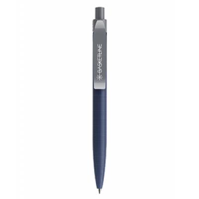 Image of Printed Prodir QS01 New Patterned Design Pen. Matt Blue With Polished Clip